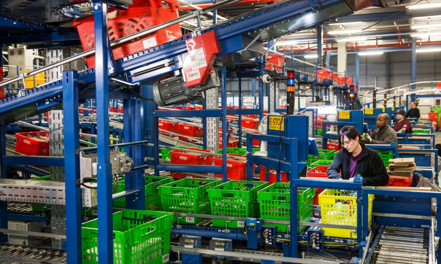 Ocado CFC (Customer Fulfilment Centre) Hatfield Hertfordshire By David Levene 22/12/14